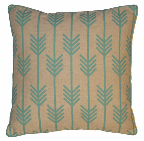 Turquoise arrow pillow case