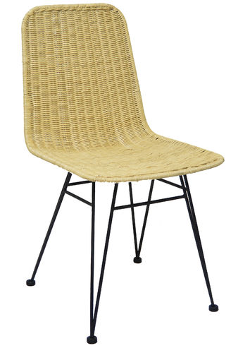 Rattan chair with steel legs