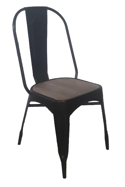 Steel chair black