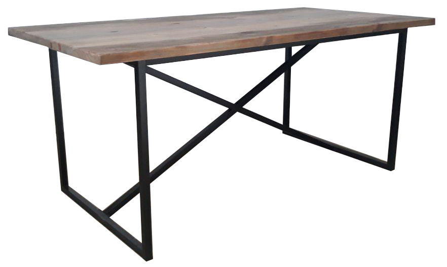 Padang table with black legs